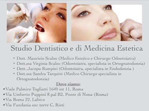 Studi dentistici e di Medicina Estetica Scalzo Rampini Tarquini, roma, rieti, labico
