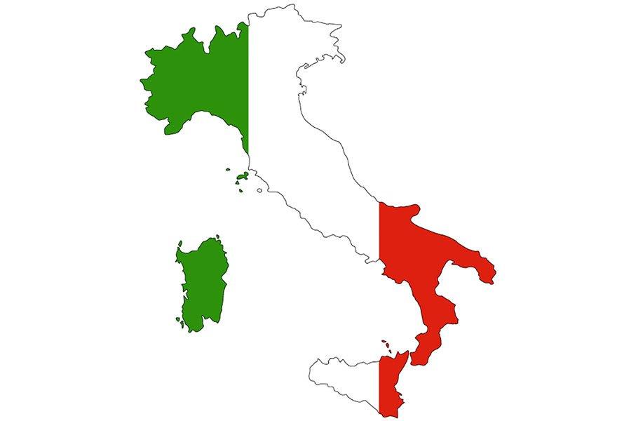 un'immagine dell'Italia tricolore