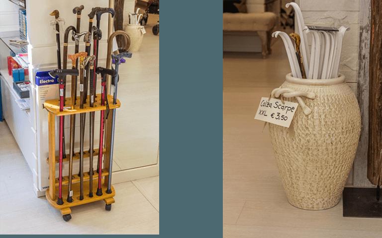 vasi con bastoni per anzani