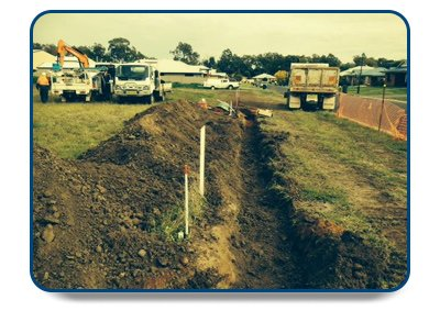 bro neilis power contracting trench for power lines