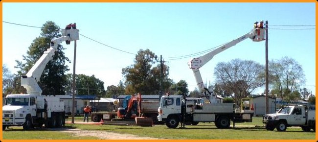 bro neilis power contracting power line installation