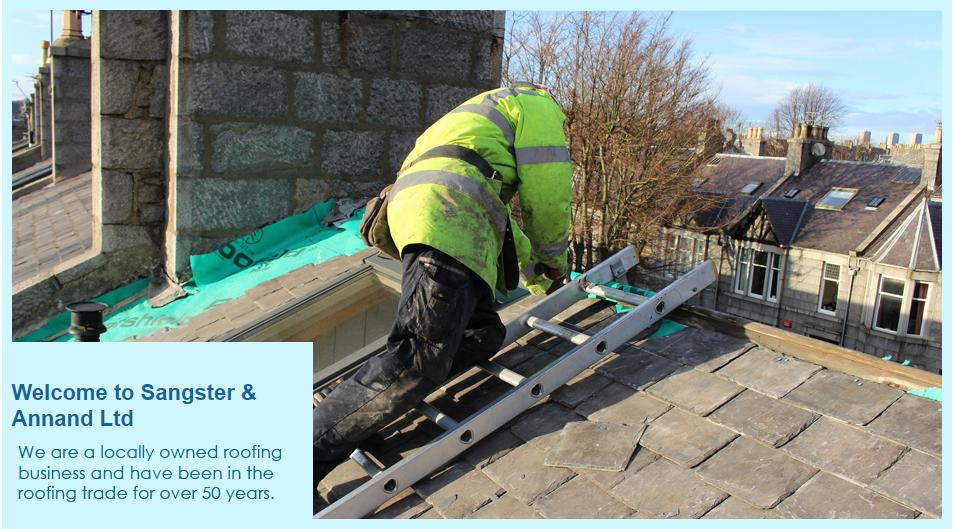 A roofer at work