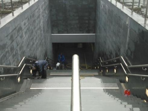 Pulizia delle stazioni metropolitana