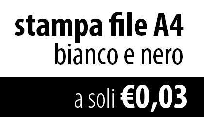 OFFERTA STAMPE BIANCO E NERO