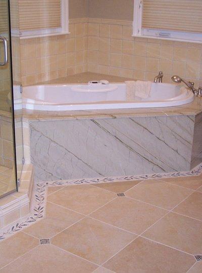 Company's bathroom tiling project