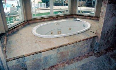 Bathroom tiling work