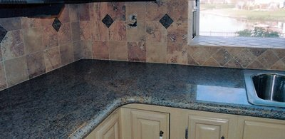 Kitchen counters - our completed work