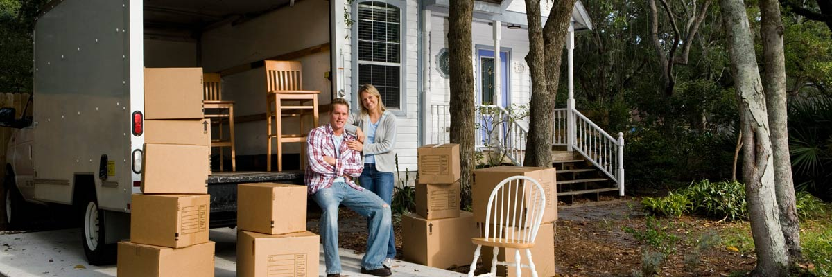 thompson removals couples near truck