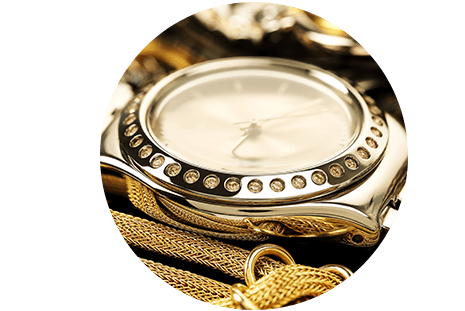 Orologio in oro con cronometro e altri gioielli a Prina Gioielli srl a Canzo