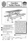 DIY plans - garden table and seat