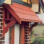 Federation style gable awning