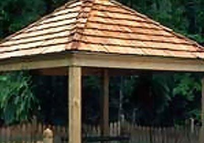 Western red cedar pergola roofing