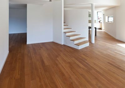 Timber flooring laid in home