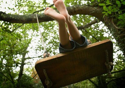 Timber tree swing