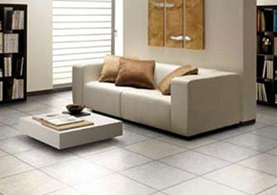 Tiled lounge room