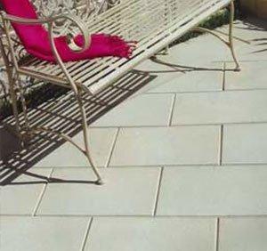 Concrete paving in backyard