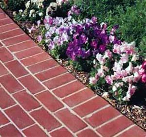 Brick pavers laid as driveway