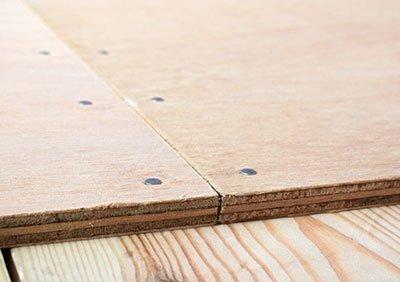 Nailed plywood