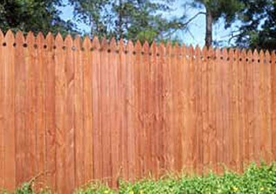 Hardwood picket fencing