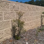 Morter retaining wall
