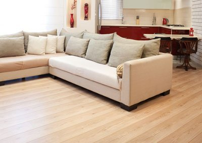 Floating timber flooring