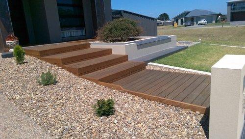 jarrah decking steps