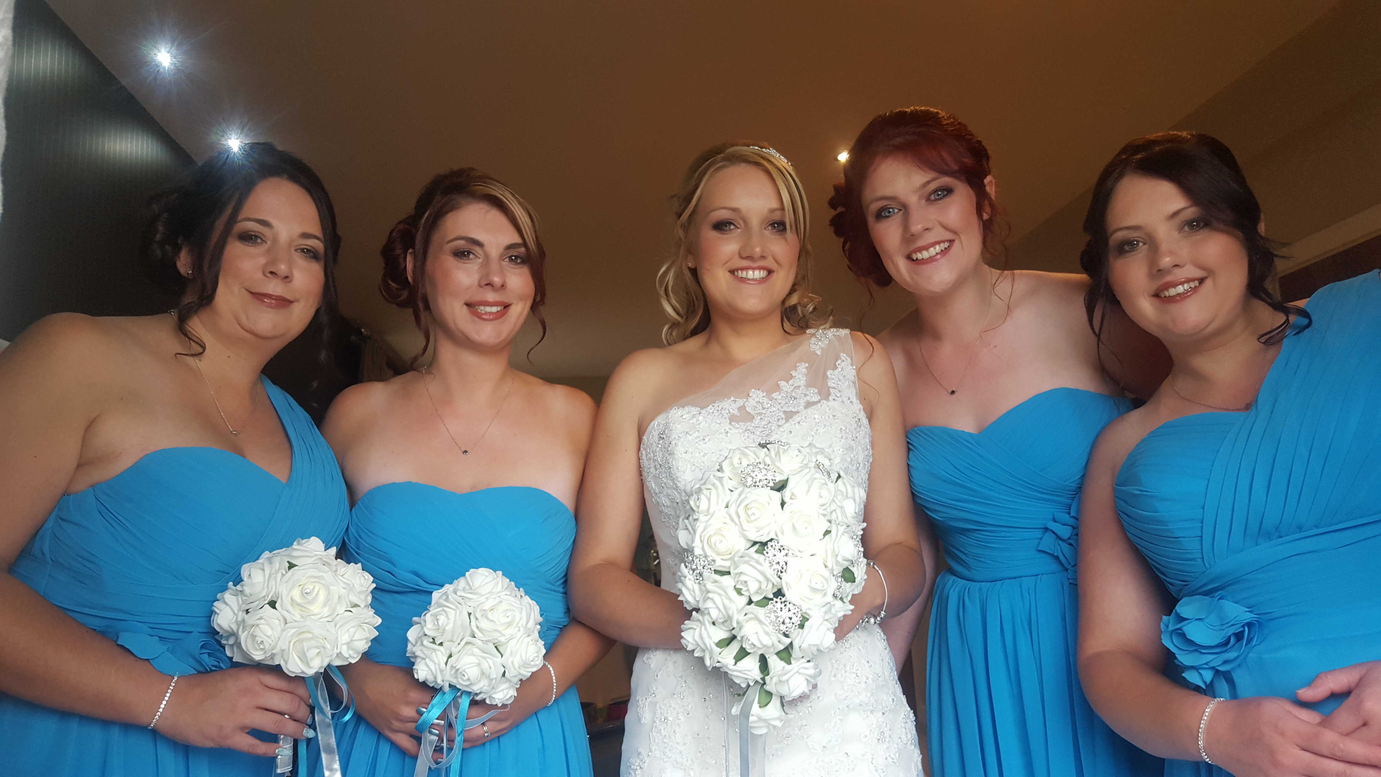 bridal entourage posing