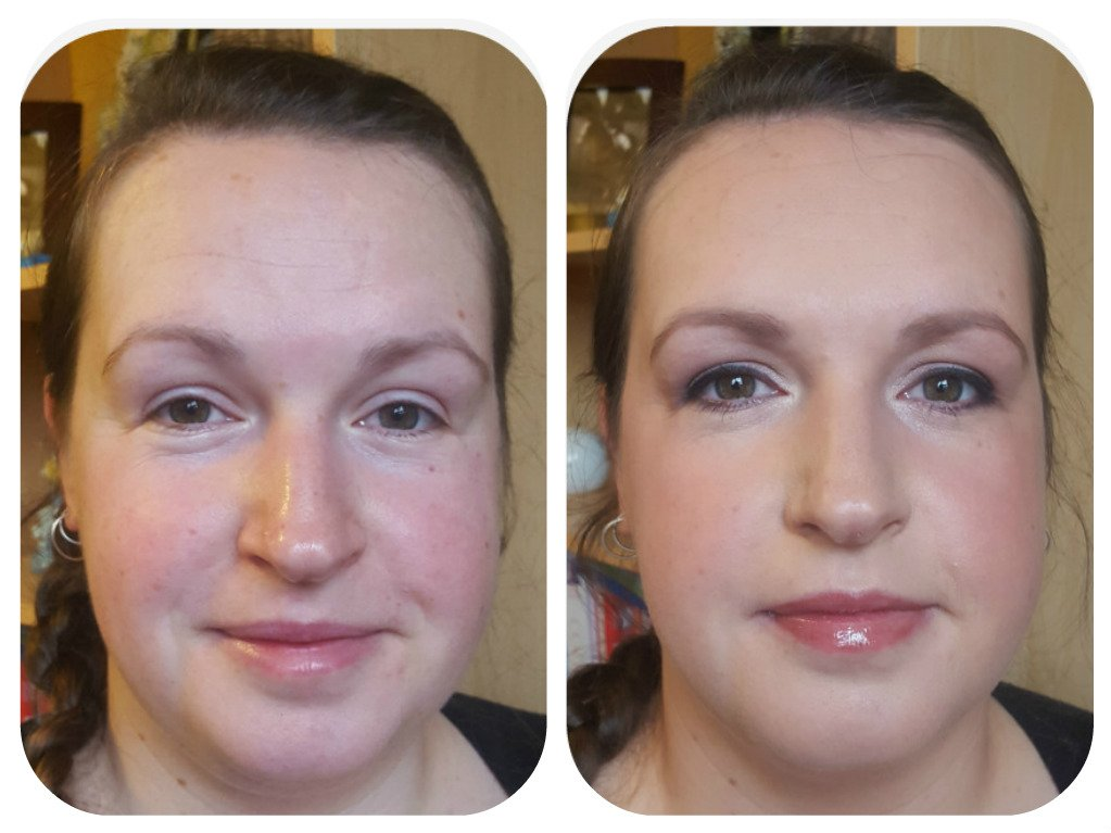 ceremony makeup- before and after