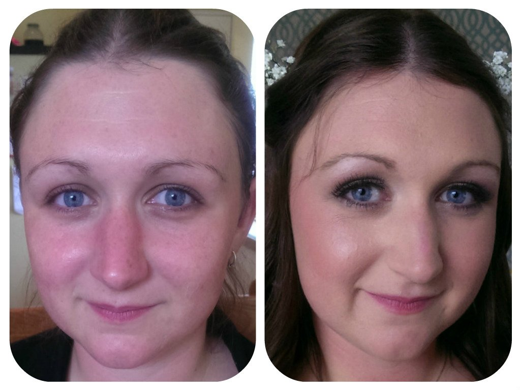 celebration makeup- before and after
