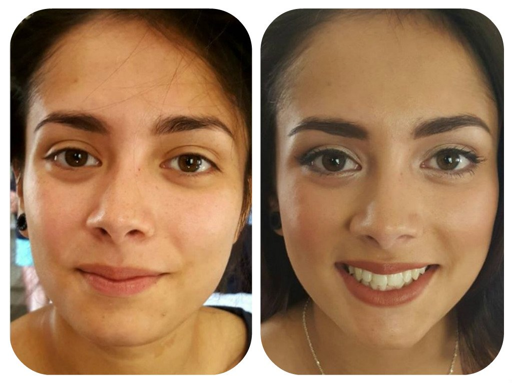 function makeup - before and after