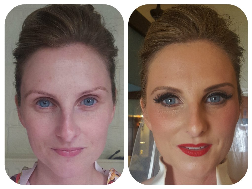 ceremonial makeup - before and after