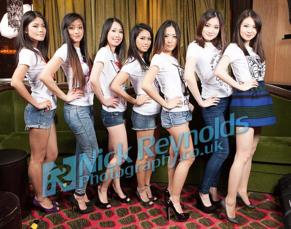 models posing in an event