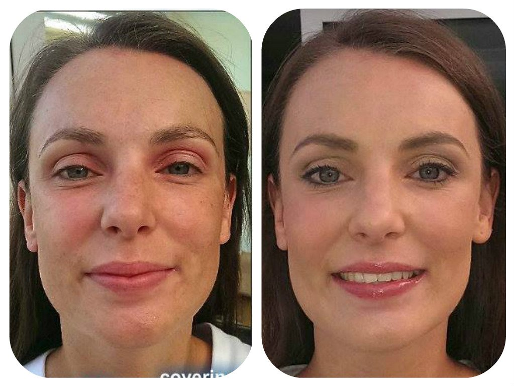 flawless makeup- before and after