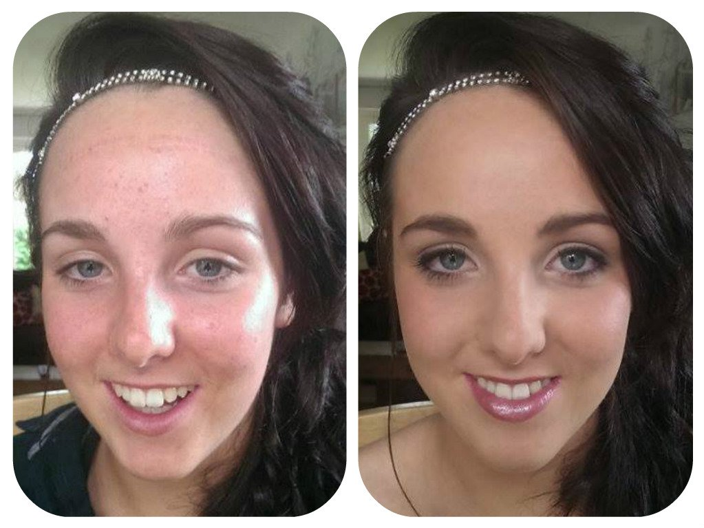 bridal makeup- before and after