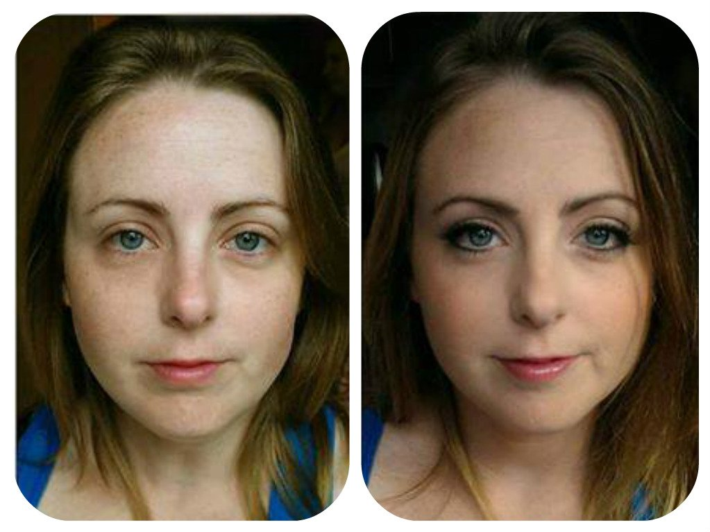 exquisite makeup - before and after