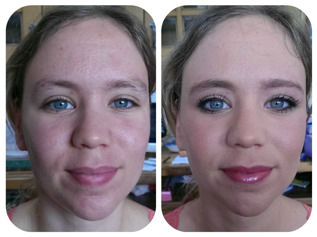 fascinating makeup - before and after