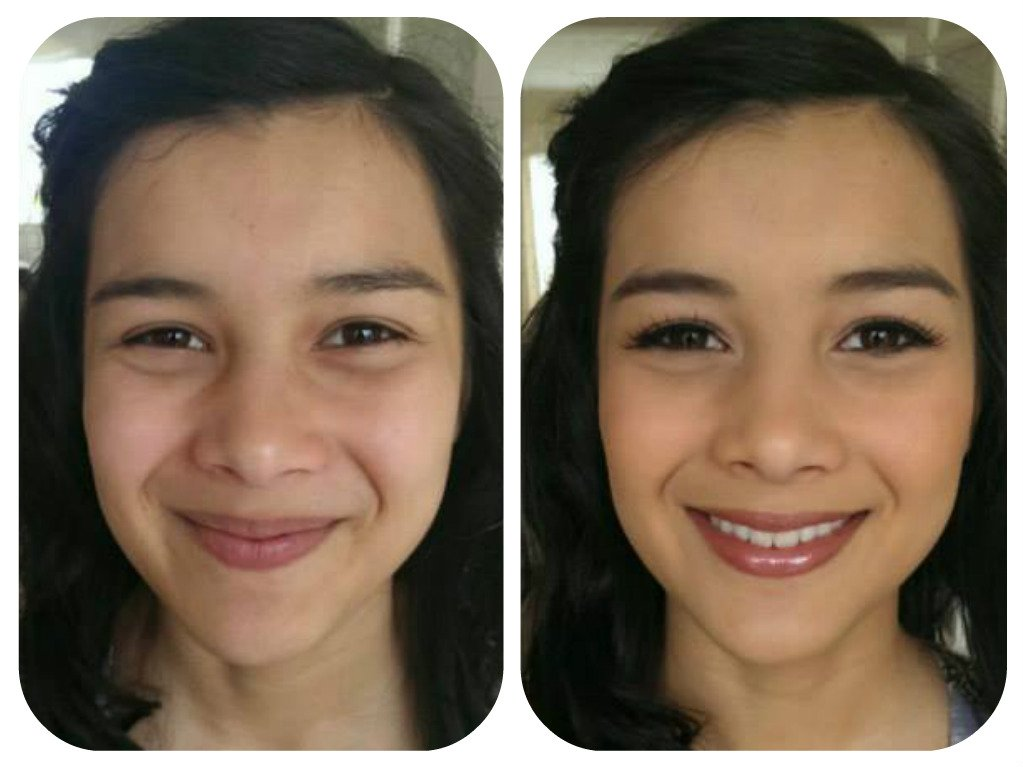 lovely makeup - before and after