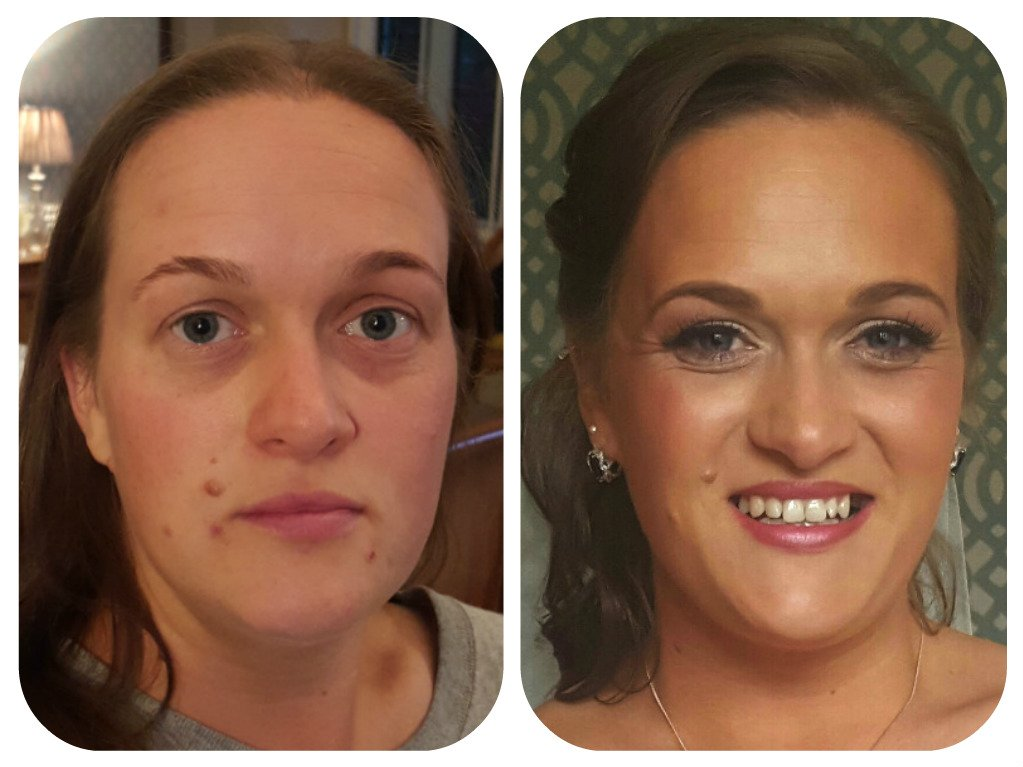 radiant makeup - before and after