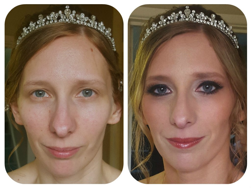 gorgeous bride with makeup
