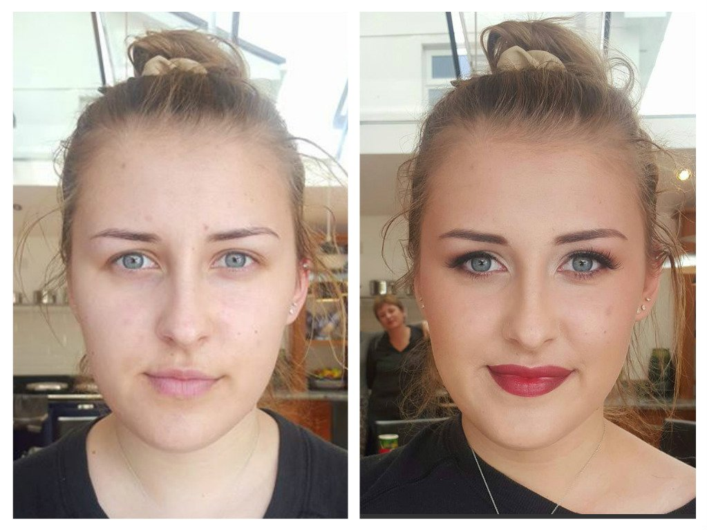 splendid bridal makeup - before and after