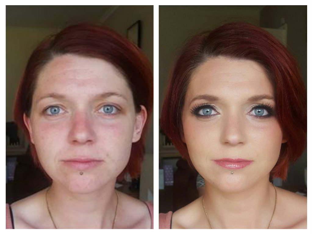 superb bridal makeup - before and after