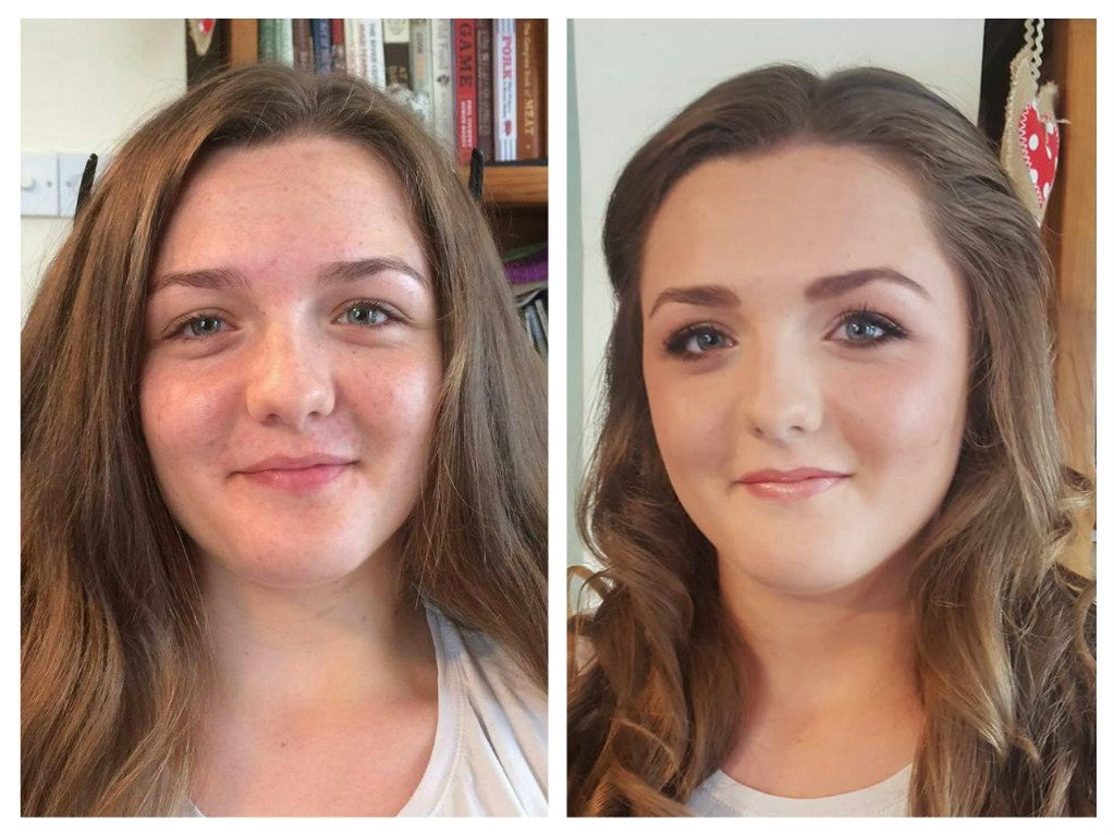 stunning bridal makeup -before and after