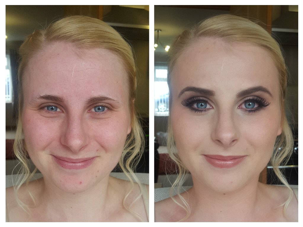before and after facial makeup