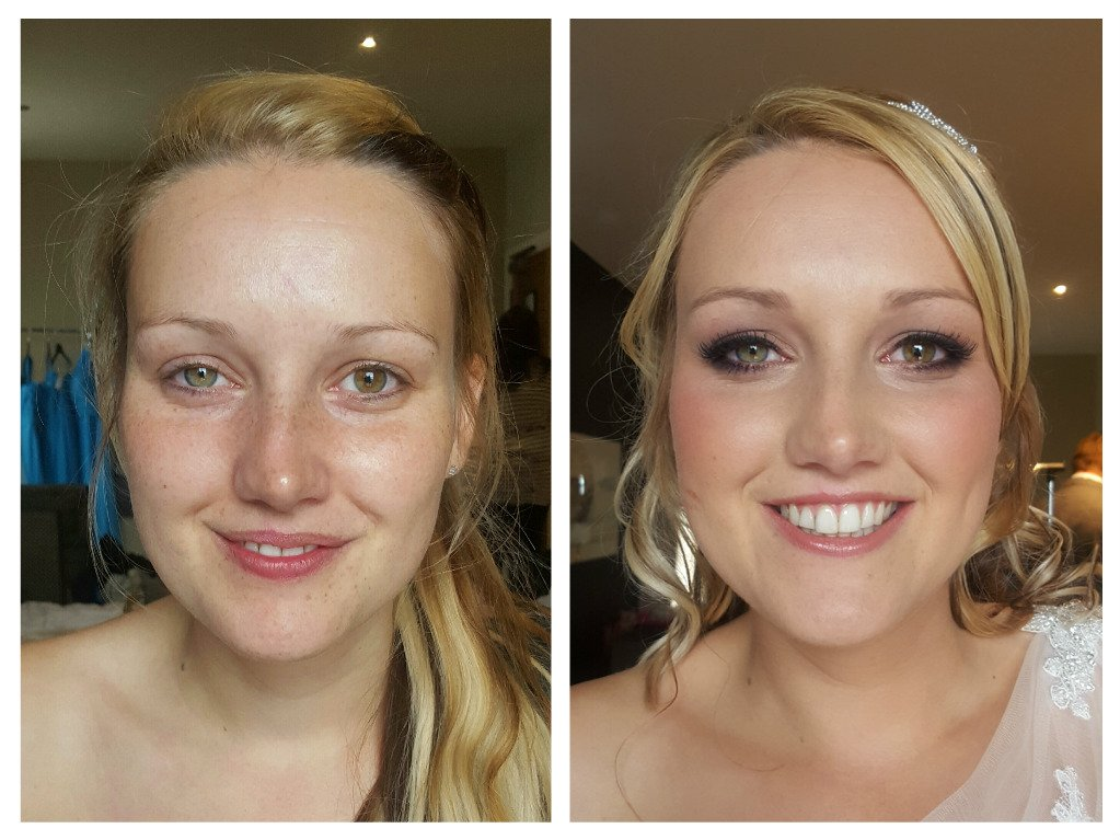 exceptional bridal makeup - before and after