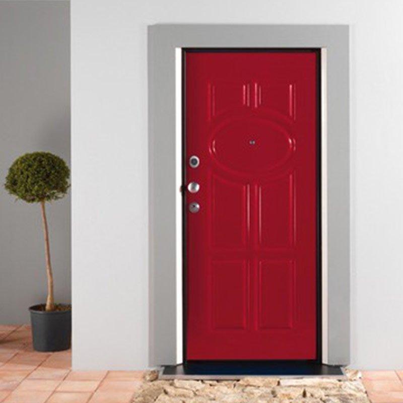 porta blindata laccato rosso