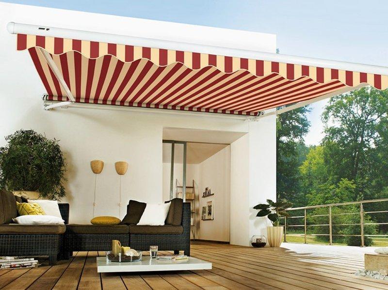 tende da sole bianco rosso