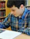teenage boy working