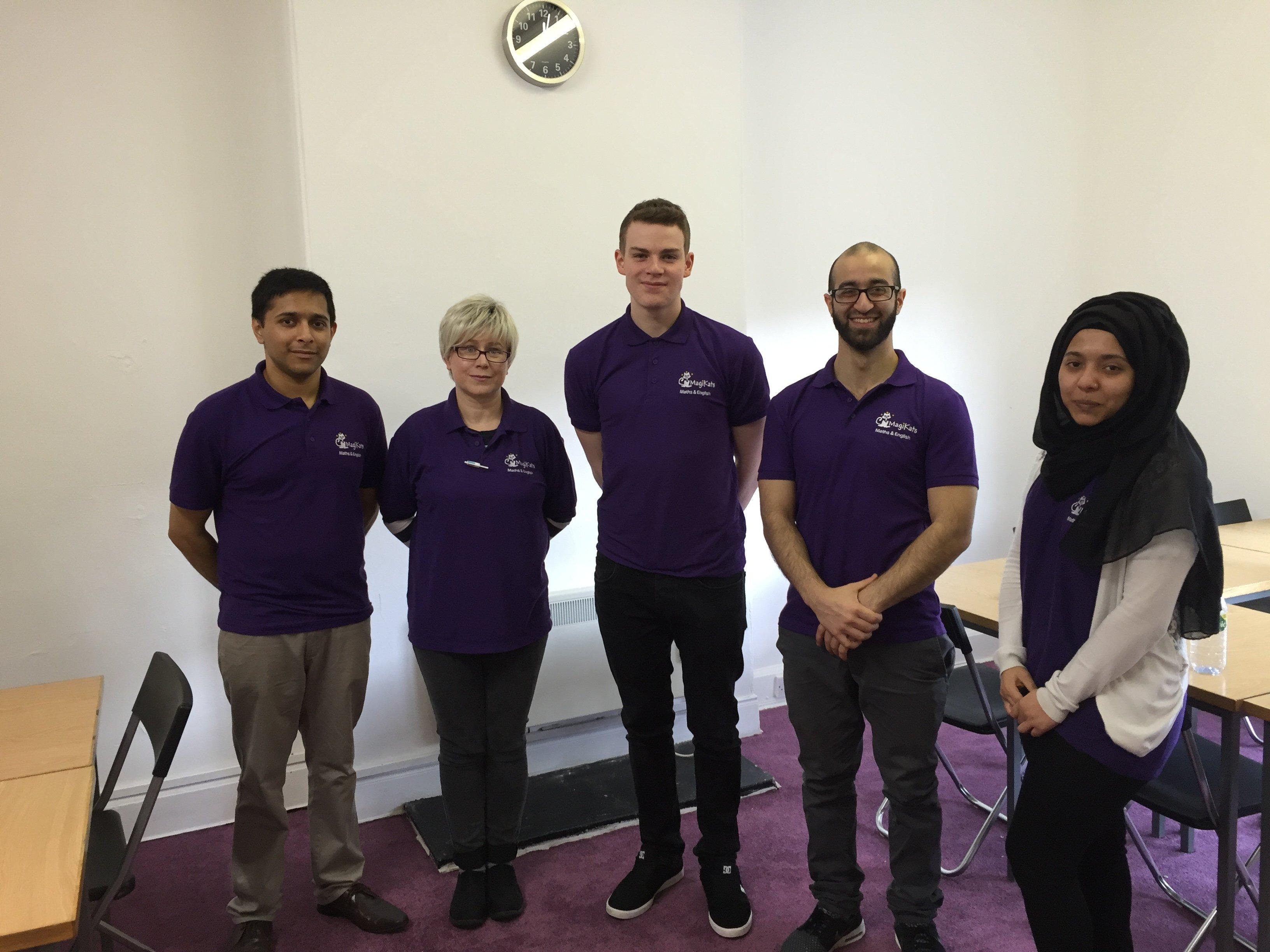 The staff at MagiKats Edinburgh East