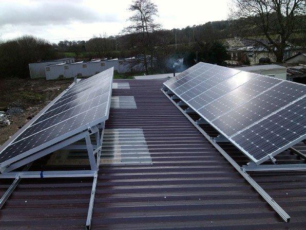 dual solar panels