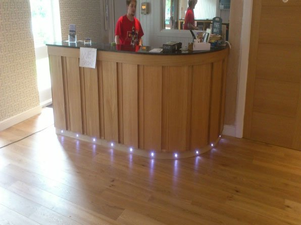 wooden flooring lighting
